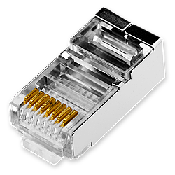 Коннектор RJ45 FTP-8P8С LogicPower (100 шт)