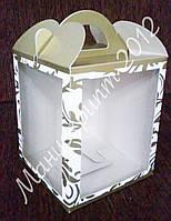 """Коробка """"Пряничная"""" с двумя окнами"""