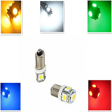2шт - BA9S 5 LED лампа, Зеленый цвет (2 шт.) габариты, повороты подсветка  - Ambez.com.ua в Киеве