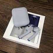 Беспроводные bluetooth наушники inPods 12 с микрофоном для пк телефона wireless вкладыши блютуз серые
