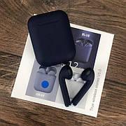 Беспроводные bluetooth наушники inPods 12 с микрофоном для пк телефона wireless вкладыши блютуз синие