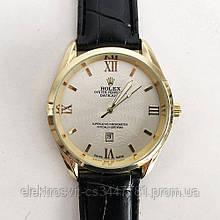 Часы наручные Rolex White ремешок черный