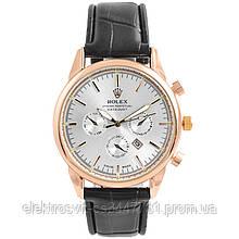 Часы наручные Rolex White ремешок черный (реплика)