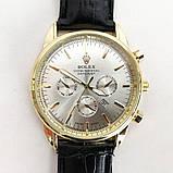 Часы наручные Rolex White ремешок черный (реплика), фото 3