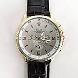 Часы наручные Rolex White ремешок коричневый, фото 3