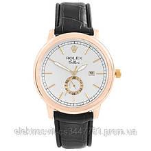 Часы наручные Rolex White ремешок коричневый