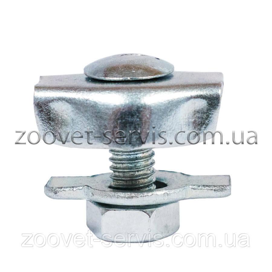 Затиск троса (каната) одинарний 2 мм
