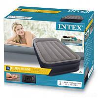 Двуспальная надувная кровать INTEX 64132 (99Х191Х42) + насос 220V, фото 1