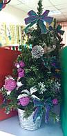 Декоративная елка в розовых тонах 50см