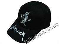 METALLICA -1 (лого+слово белое) рок-бейсболка