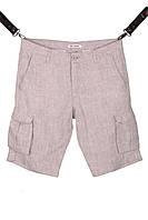 Мужские льняные шорты с накладными карманами (Арт. SH 3588)