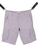 Мужские льняные шорты с накладными карманами (Арт. SH 3587)