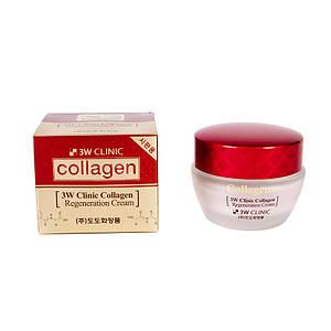 Регенерирующий крем с морским коллагеном 3W Clinic Collagen Regeneration Cream, 60 мл