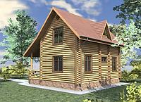 Дом из дикого сруба 10,5x8