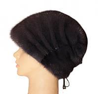 """Норковая шапка """"Бритни"""" (ирис)"""