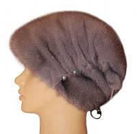 "Норковая шапка ""Бритни"" (серо-голубая)"
