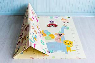 Детский термо коврик Mat4baby развивающий Ростомер - Пегас 1500*2000*10 мм