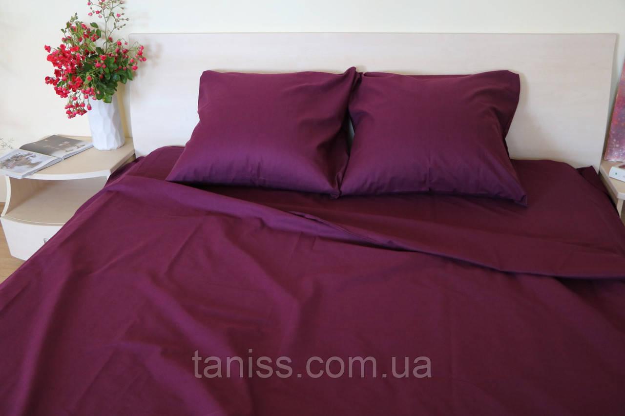 """Семейный набор постельного белья Бязь """"Gold"""",  расцветка как на фото,  марсала"""
