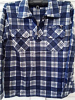 Рубашка на флисе в крупную клетку