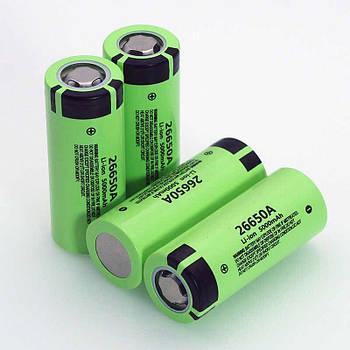 Аккумулятор PANASONIC 26650A 5000mAh 20A Li-Ion без эффекта памяти на 1000 циклов, Оригинал, Реальная емкость