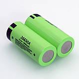 Аккумулятор PANASONIC 26650A 5000mAh 20A Li-Ion без эффекта памяти на 1000 циклов, Оригинал, Реальная емкость, фото 4