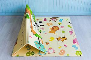 Детский складной термо коврик Mat4baby развивающий Зоопарк - Ростомер 1500*2000*10 мм