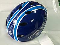 Велошлем котелок синий