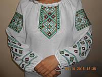 """Жіноча вишивана блузка """"Коляда"""" зелена"""