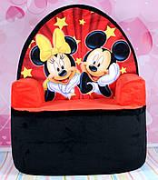 """Мягкое детское кресло """"Микки Маус и Минни Маус"""" 57 см."""