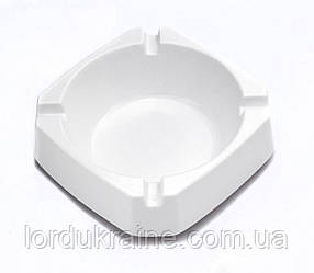 Пепельница квадратная открытая, 92 × 92 × 30 мм, белая