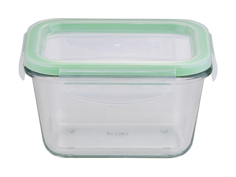 Контейнер стеклянный Bergner Glass Box Green 450мл с пластиковой крышкой