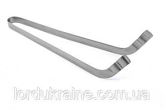 Німецькі щипці - пінцет, вигнуті 35 см, нерж. сталь