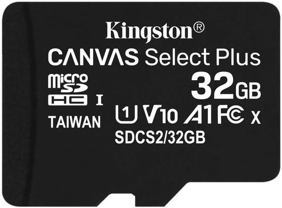 Карта памяти Kingston microSDHC 32Gb Canvas Select Plus A1 UHS-1 (R-100 Mb/s)