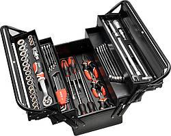 Ящик з інструментами YATO розкладний металевий 62 предметів (YT-3895)