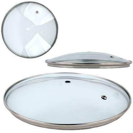 Крышка стеклянная для сковороды 16 /цена без ручки, фото 2