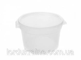 Контейнер круглый для хранения продуктов, полипропилен, прозрачный 11,36 л
