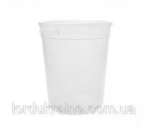 Контейнер круглий для зберігання продуктів, поліпропілен, прозорий 3,79 л