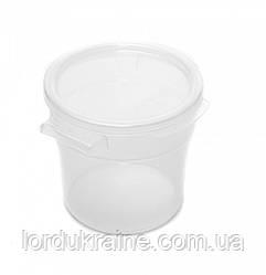 Контейнер круглий для зберігання продуктів, поліпропілен, прозорий 0,95 л