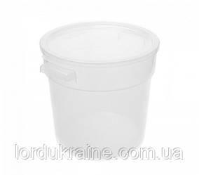 Контейнер круглий для зберігання продуктів, поліпропілен, прозорий 5,68 л