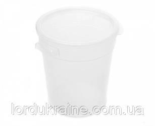 Контейнер круглий для зберігання продуктів, поліпропілен, прозорий 7,57 л