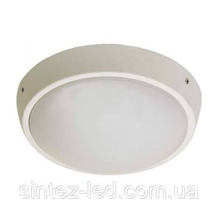 Светодиодный cветильник для ЖКХ Feron AL3002 накладной 12W 4000K круг белый IP65 Код.58516, фото 2