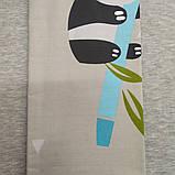 Наволочка на подушку из сатина 70*70 серая с пандами, фото 2
