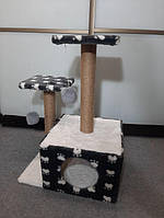 Игровой комплекс домик дряпка для кошек когтеточка