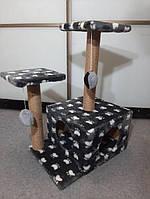 Игровой комплекс домик дряпка для кошек когтеточка TM Dom KO