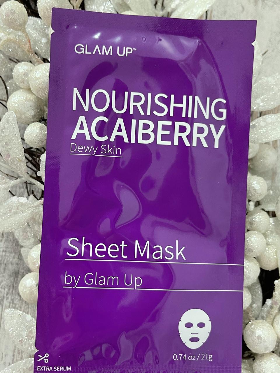 Увлажняющая тканевая маска для лица GLAM UP Nourishing Acaiberry