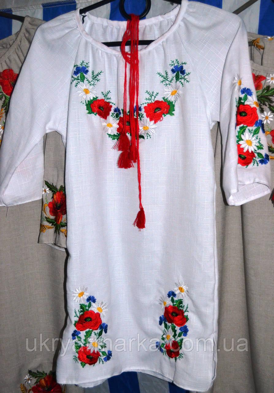 """Плаття  з вишивкою для дівчинки """"Квітковий рай"""""""