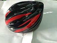 Велошлем кросс-кантри черно-красный