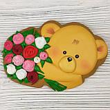 """Пряник """"Ведмедик з трояндами"""", фото 2"""