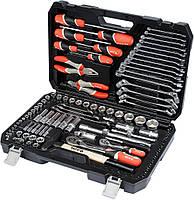 """Набір інструментів YATO 1/2"""" і 1/4"""" 109 предметів (YT-38891)"""