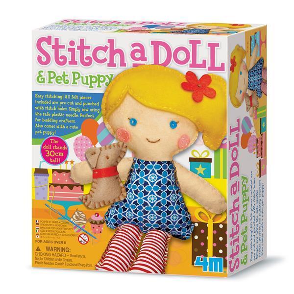 Набір для творчості 4M Шиття Лялька з цуценям (00-02767)
